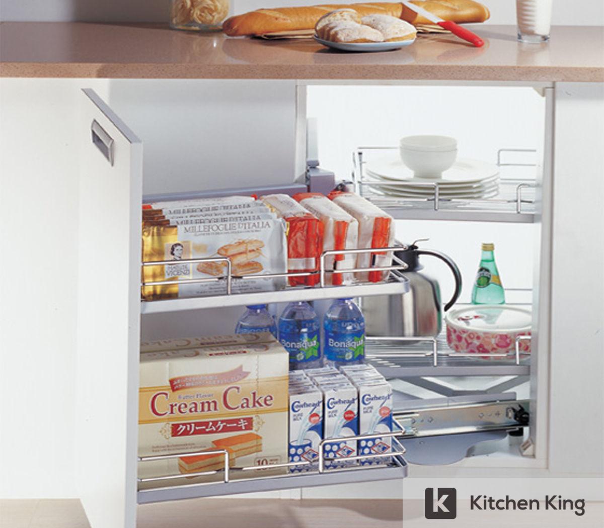 Smart kitchen cabinet accessories wardrobes storage solution in uae