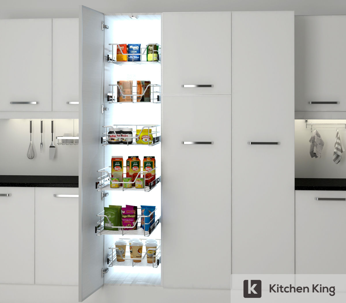 Kitchen Cabinets Accessories: Kitchen Accessories, Kitchen Cabinet Pull Out In Dubai