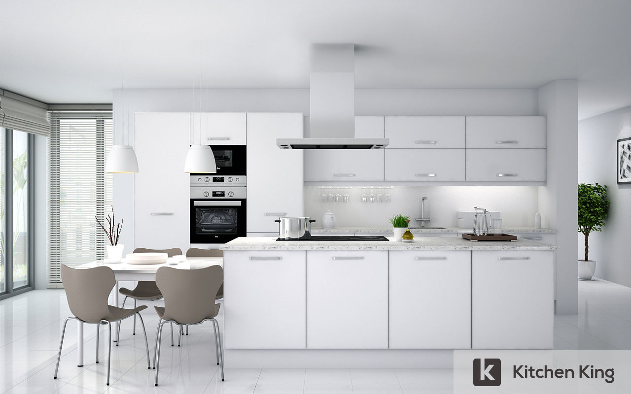 LUXURY OPEN WHITE KITCHEN
