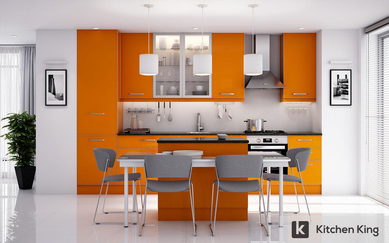 Kitchen cabinet accessories uae - Orange Kitchen