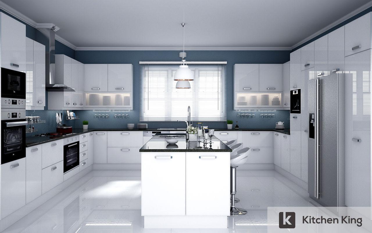 Kitchen cabinet accessories uae - White Kitchen