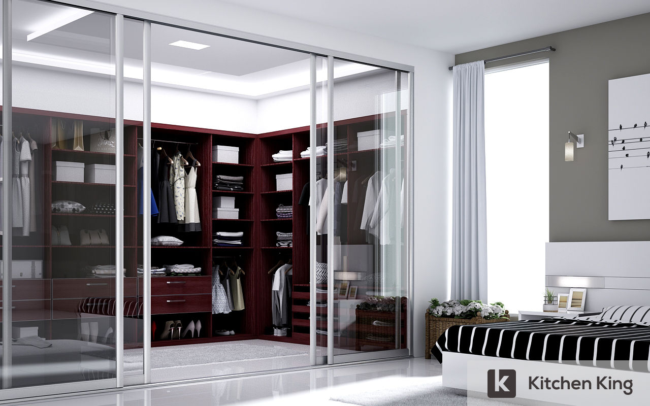 Bathroom with sliding door - Wardrobe Closet Designs To Fit Your Space In Dubai Uae