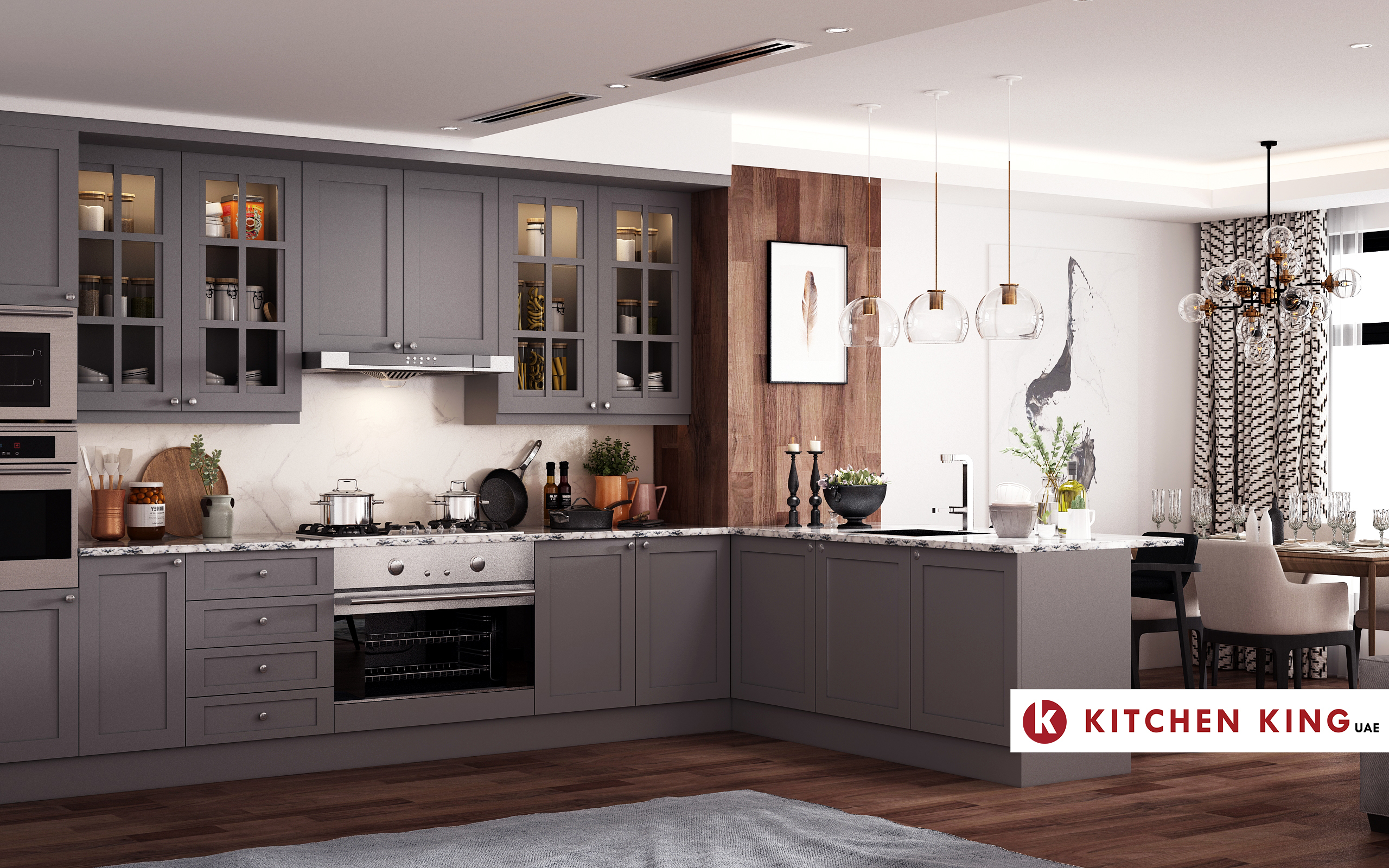 Kitchen Cabinet And Wardrobes Design Company In Uae Kitchen King