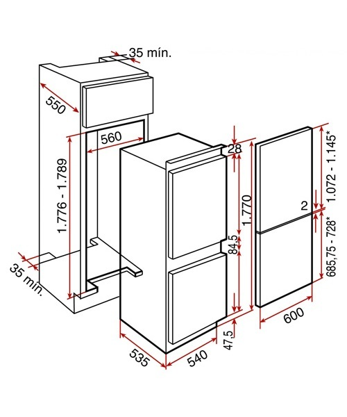 teka artic ci2 350 nf freestanding fridge freezer