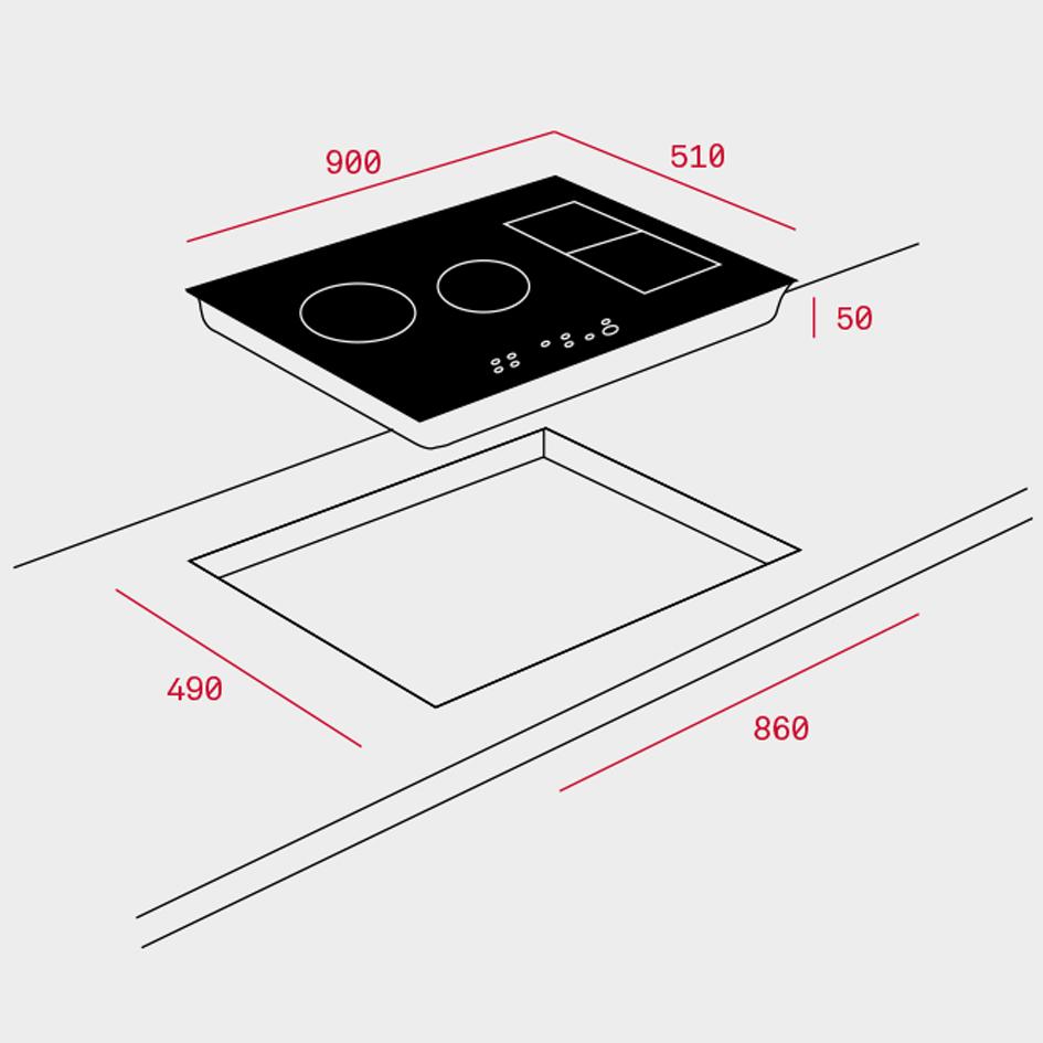 Teka Irf 9480 Tft Tablet Induction Hob Kitchen King