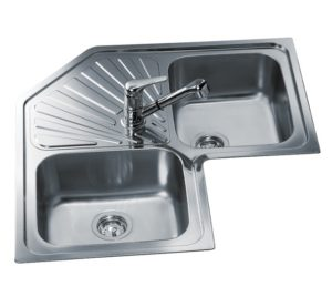 Teka angular 2b 1d inset sink kitchen king for Lavadero empotrado