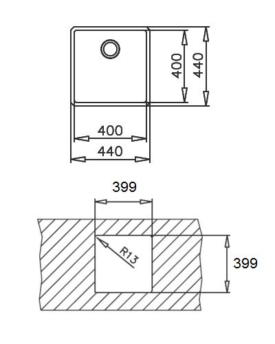 teka linea r15 40 40 undermount sink