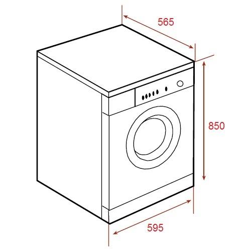 Washing Machine Drawing ~ Teka spa tkd freestanding washing machine kitchen king